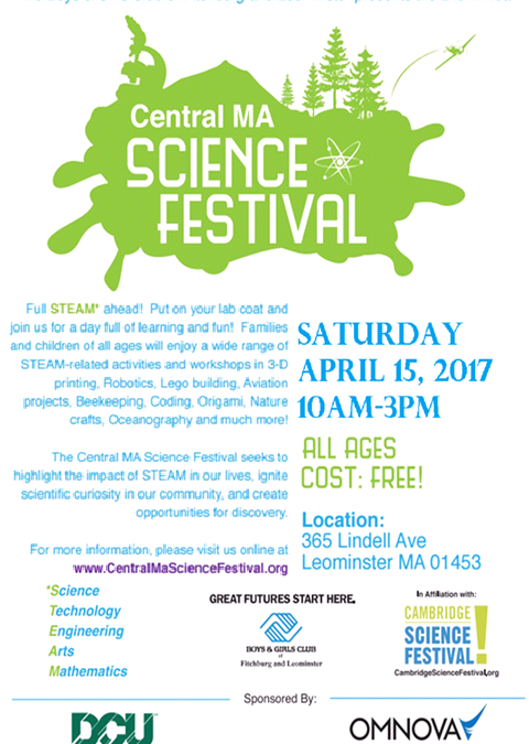 Volunteering Opportunity: 2017 Central MA Science Festival