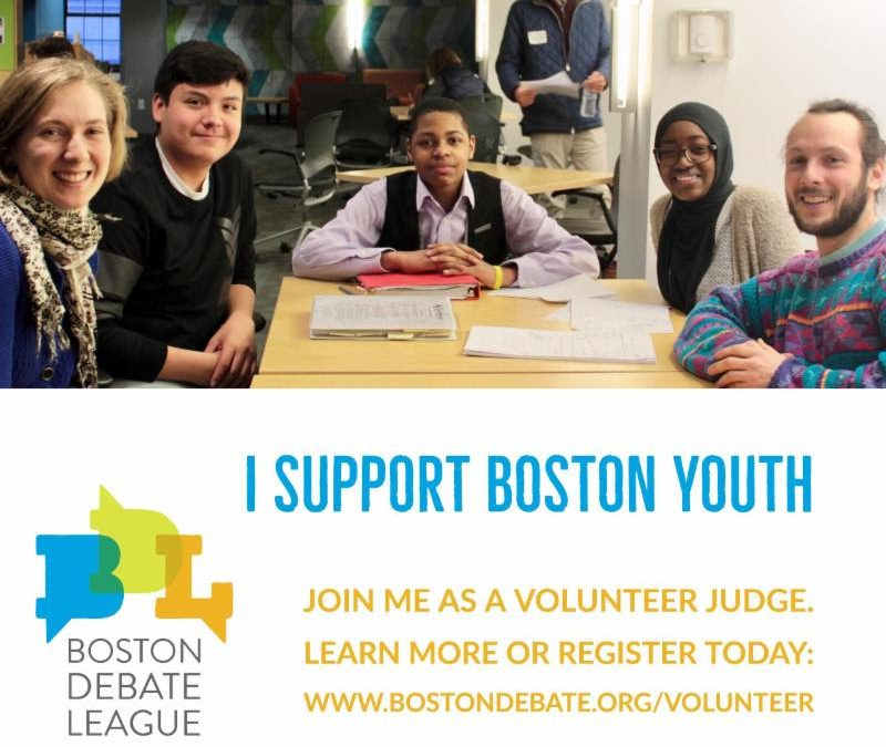 Boston Debate League: Volunteer for the City Championships!